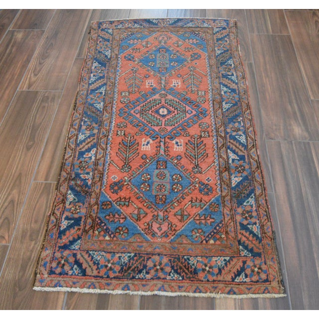 "Antique Persian Heriz Rug - 3' x 5'7"" - Image 3 of 11"