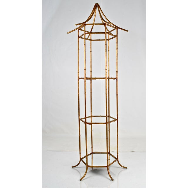Pagoda Form Etagere, Parcel Gilded For Sale - Image 10 of 10
