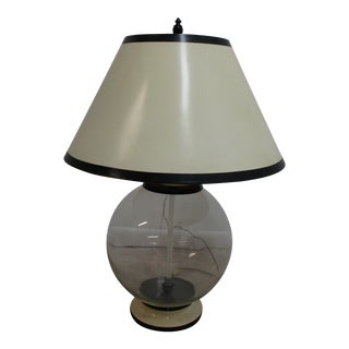 Vintage Soap Bubble Orb Table Lamp Regency and Shade For Sale