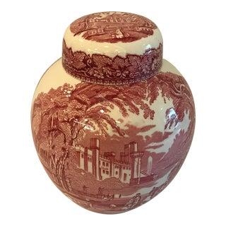 Vintage Mason's Red Ironstone Vista Ginger Jar For Sale