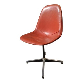 Mid-Century Modern Herman Miller for Eames Orange Padded Wire Desk Chair For Sale
