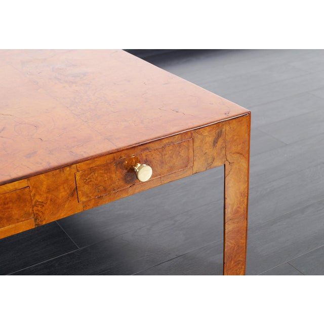 1950s Vintage Italian Burl Wood Coffee Table by Cannell & Chaffin For Sale - Image 5 of 8