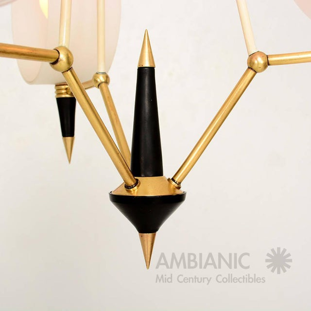 Mid-Century Modern Italian Chandelier With Three Arms For Sale - Image 9 of 10