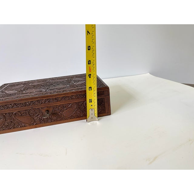 Early 20th Century Wooden Carved Box For Sale - Image 11 of 13