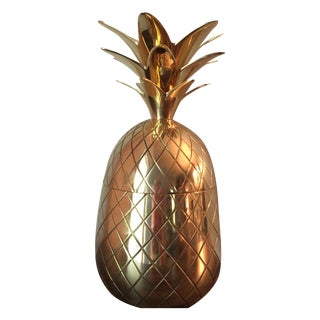 Brass Pineapple Champagne Bucket For Sale