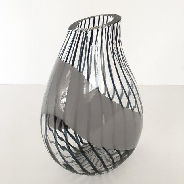 Livio Seguso Striped Murano Art Glass Vase For Sale In Chicago - Image 6 of 13