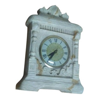 1940s Vintage Solid Marble Clock For Sale