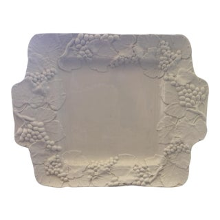 Italian Heavy White Amora Platter For Sale