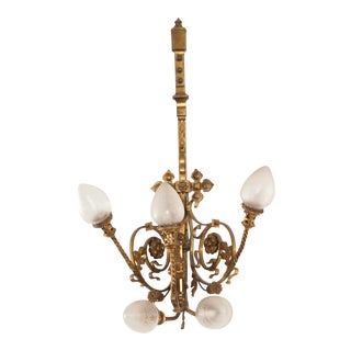 19th Century French Bronze & Crystal Sconce For Sale