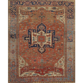 "Pasargad N Y Persian Serapi Antique Handmade Hand-Spun Wool Rug - 10' X 12'1"" For Sale"