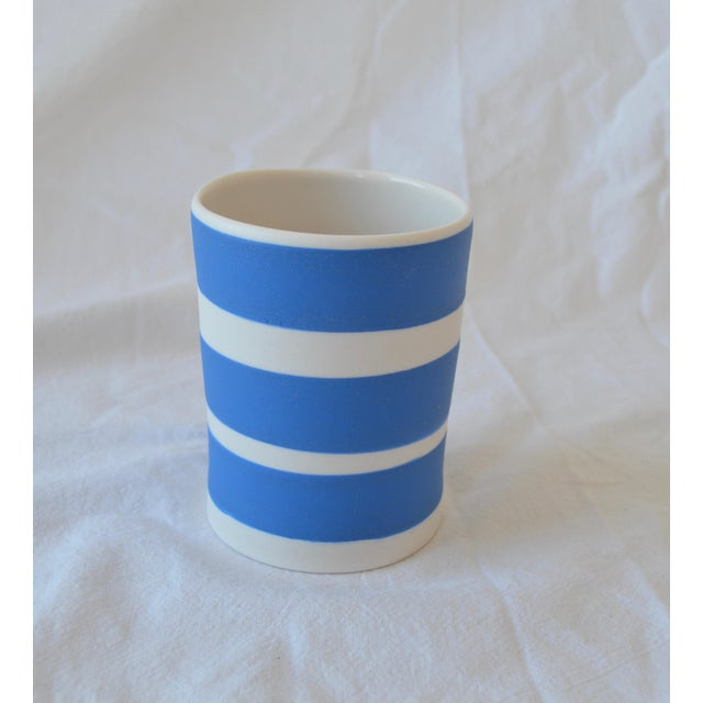 Contemporary Ceramic Striped Cylindrical Vessels - Group of 6 For Sale - Image 9 of 11