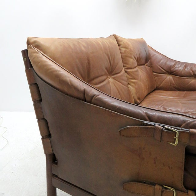 1960's Vintage 'Ilona' by Arne Norell Leather Settee For Sale - Image 9 of 13