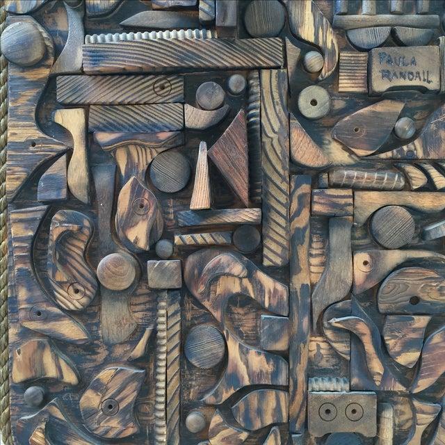 Wood Mosaic Collage Sculpture Paula Randall 1974 - Image 7 of 7