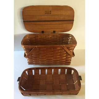 1940's Vintage Classic American Picnic Basket - 2 Pieces Preview
