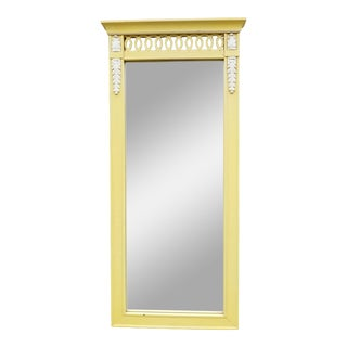 Vintage Neoclassical Style Painted Pier Mirror For Sale