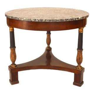 Italian Neoclassic Mahogany Gueridon Table For Sale