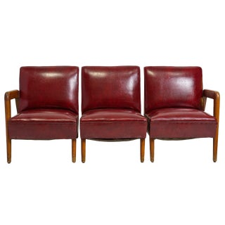 Vintage Mid Century Three-Piece Sofa For Sale