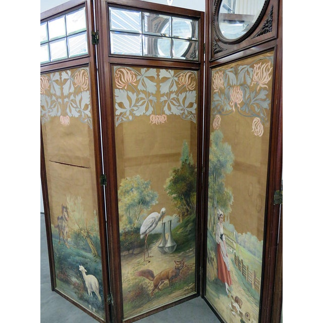 Aesthetic Victorian 4 Panel Screen For Sale - Image 4 of 13