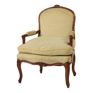 Late 19th Century Louis XV Style Fauteuil Chair For Sale