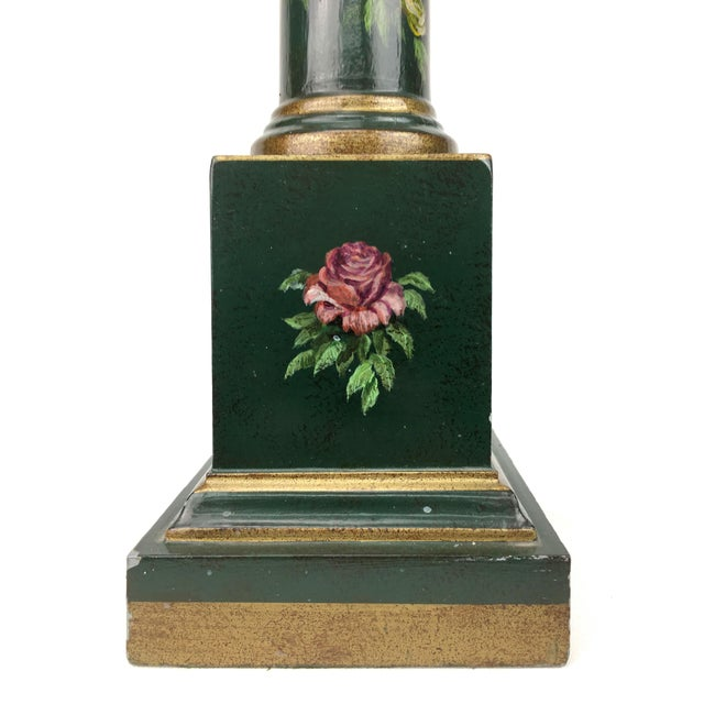 Botanical Motif Column Table Lamp For Sale In New York - Image 6 of 7