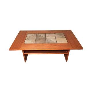 Danish Teak & Tile Coffee Table
