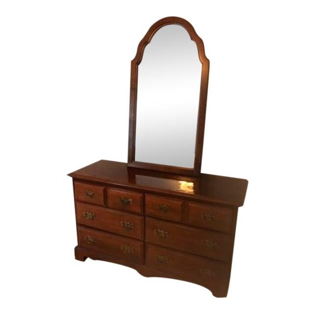 Stanley Furniture Dresser & Mirror For Sale
