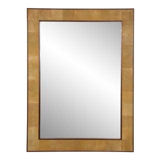 Bespoke Rectangular Shagreen Mirror For Sale