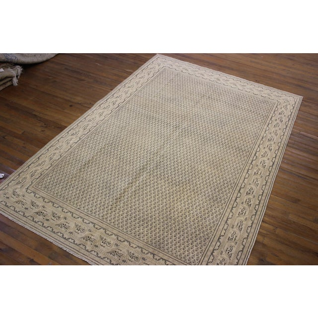 Tan Vintage Hand-Woven Overdyed Rug - 6′2″ × 9′2″ - Image 8 of 9