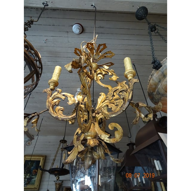 Gold 17th Century Venetian Chandelier For Sale - Image 8 of 12