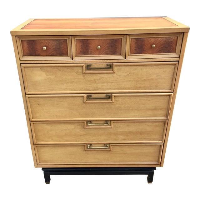 1960s Vintage American by Martinsville Highboy Dresser For Sale