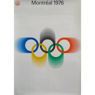 1976 Montreal Olympics Logo Poster - Coloured Rings (Medium) For Sale