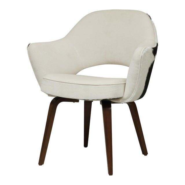 Knoll Saarinen Cowhide Executive Armchair For Sale