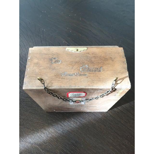 2000s Folk Art Handmade Buck Winter Diorama Box For Sale - Image 5 of 6