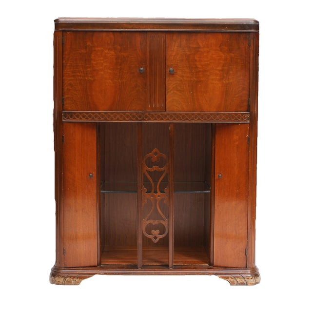 AntiqueUpcycled Radio to Bar Cabinet For Sale