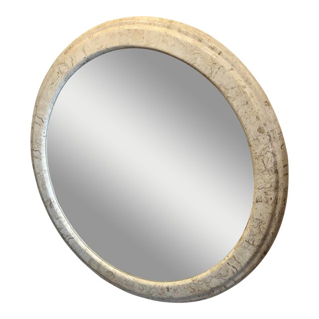 Contemporary Large Stone Wall Mirror For Sale