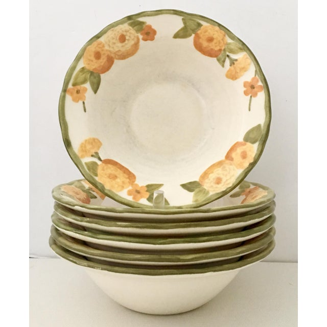 "1960s Ceramic Metlox ""Zinnia"" Dinnerware - Set of 22 - Image 4 of 7"