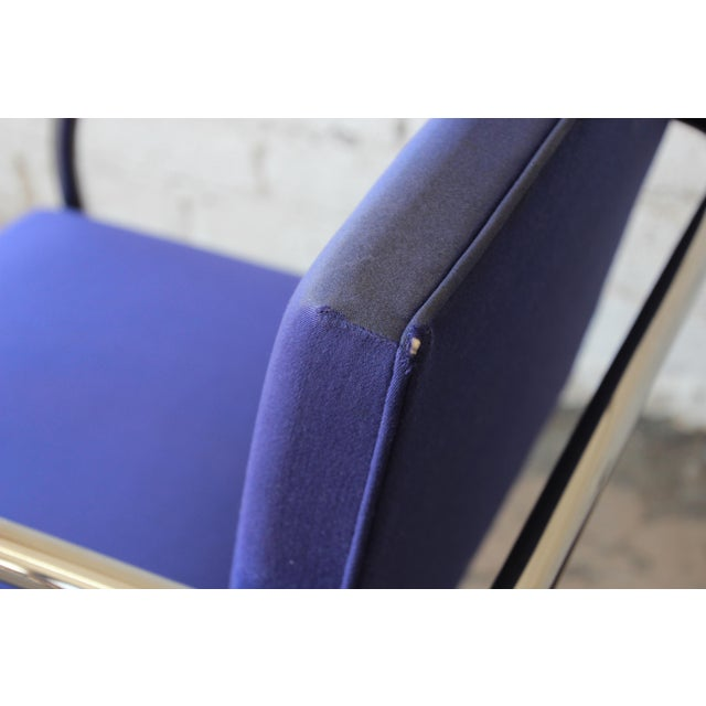 Metal Mies Van Der Rohe for Knoll International Brno Chairs - a Pair For Sale - Image 7 of 11