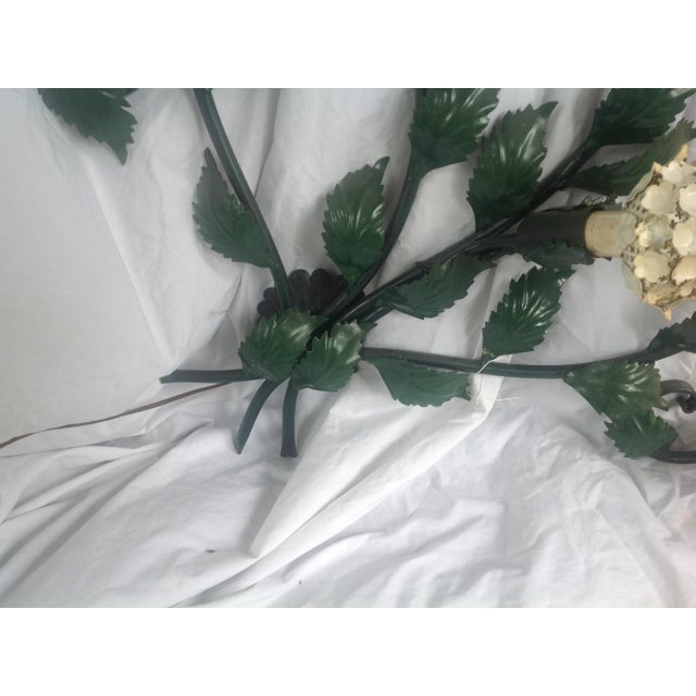 Mid-Century Metal Hydrangea Sconce For Sale In Cleveland - Image 6 of 11