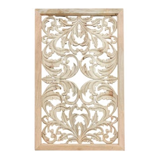 Acanthus Motif Wooden Panel For Sale