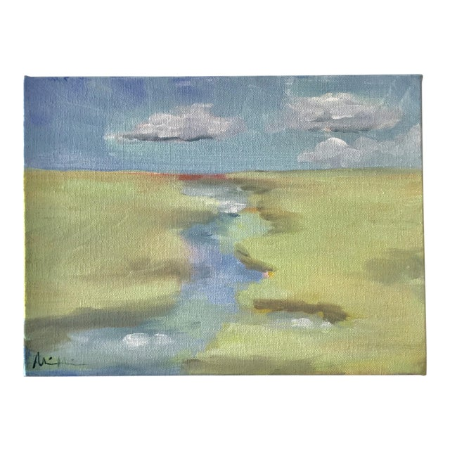 """Impressionist Acrylic Painting """"Spring Tide"""" by Alice Miles For Sale"""