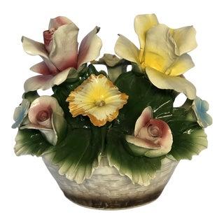 Vintage Italian Porcelain Floral Epergne For Sale