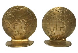 Image of Brass Bookends