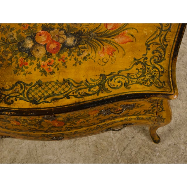Italian Louis XV Rococo Style Antique Painted Bombè Chest circa 1885 - Image 10 of 10