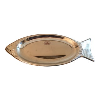 1990s Figurative Wmf Cromargan Stainless Fish Tray For Sale