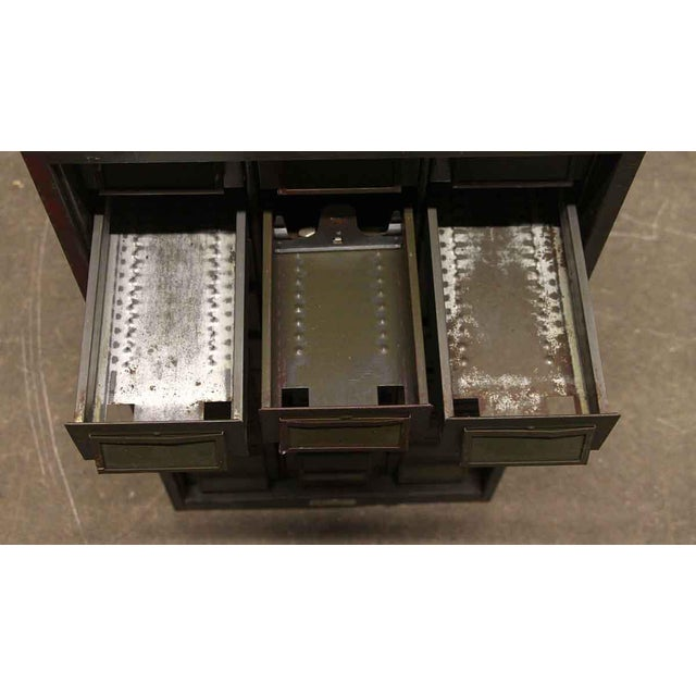 Early 21st Century Vintage Addressograph Filing Cabinet For Sale - Image 5 of 9