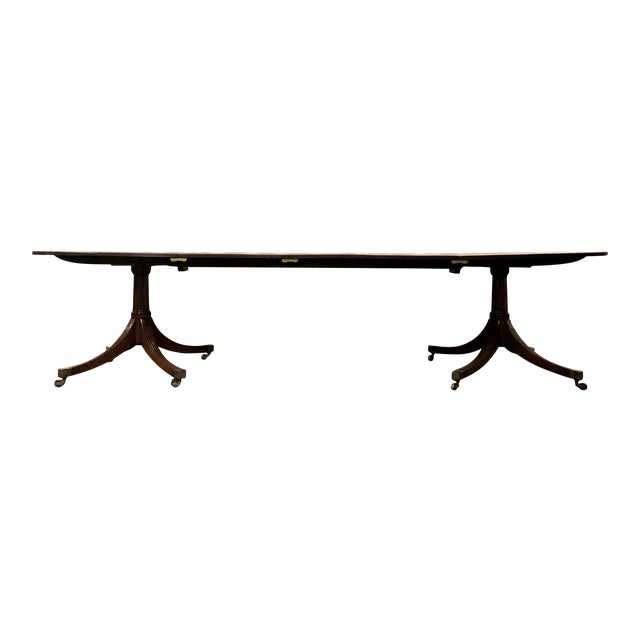 Antique English Mahogany Dining Table With 2 Leaves. For Sale