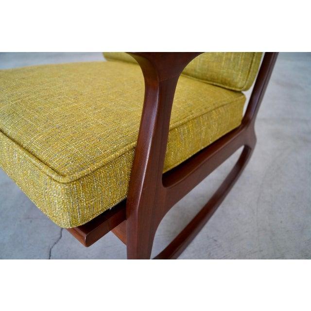 Danish Modern Ib Kofod Larsen Rocking Chair For Sale - Image 10 of 13