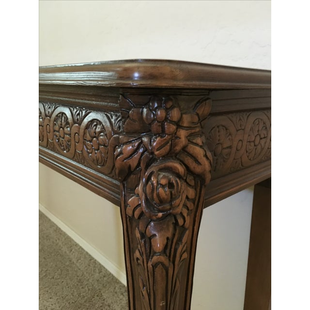 Carved Wood Buffet Table - Image 3 of 6