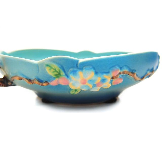 Blue Antique Roseville Pottery Blue Bowl For Sale - Image 8 of 10