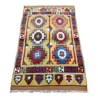 1990s Contemporary Colorful Turkish Hand-Knotted Konya Area Rug For Sale